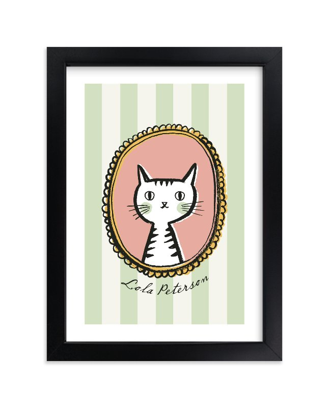 """Whiskers"" - Children's Custom Art Print by cambria in beautiful frame options and a variety of sizes."