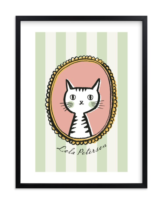 """""""Whiskers"""" - Children's Custom Art Print by cambria in beautiful frame options and a variety of sizes."""