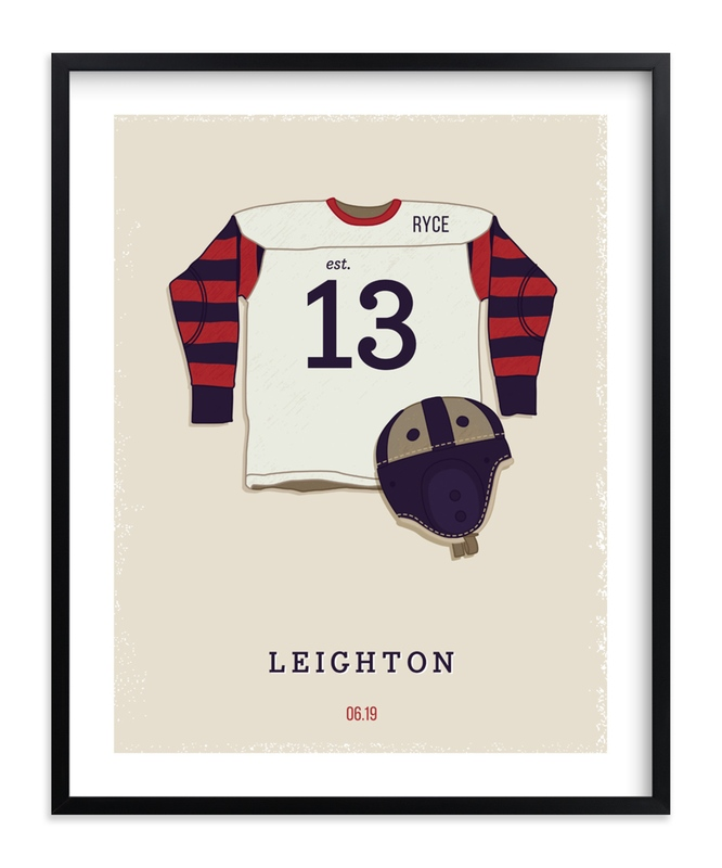 """""""American Football"""" - Children's Custom Art Print by Tyler Tea in beautiful frame options and a variety of sizes."""