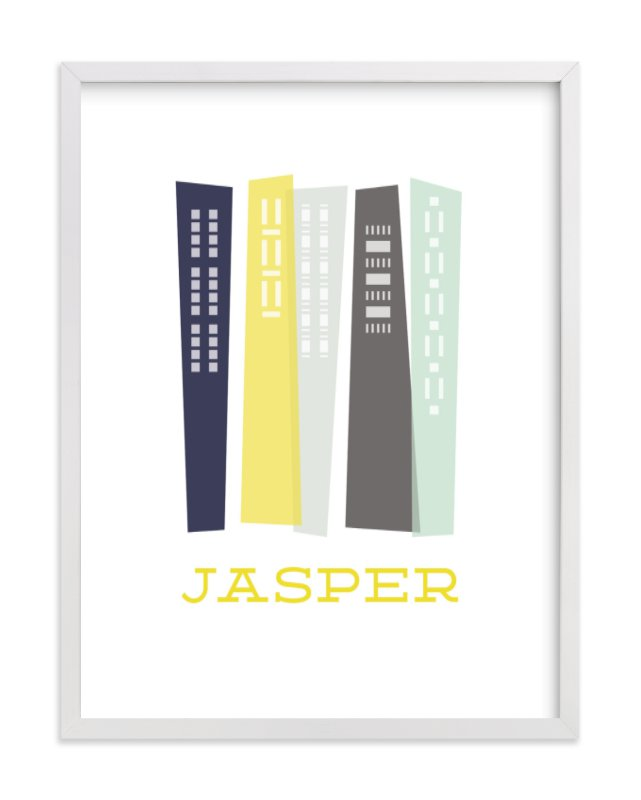 """""""Skyscrapers"""" - Children's Custom Art Print by Alston Wise in beautiful frame options and a variety of sizes."""