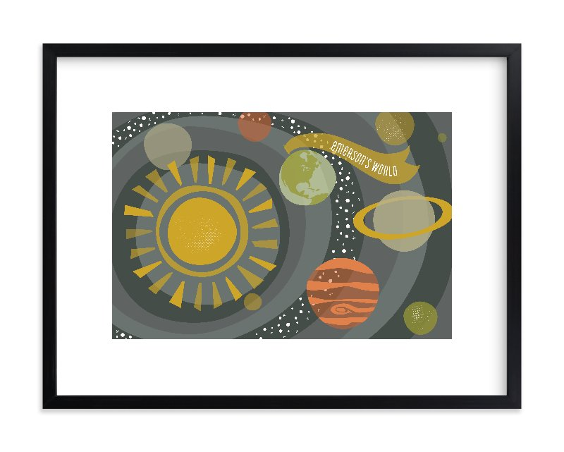 """""""Galactica"""" - Children's Custom Art Print by Melanie Severin in beautiful frame options and a variety of sizes."""