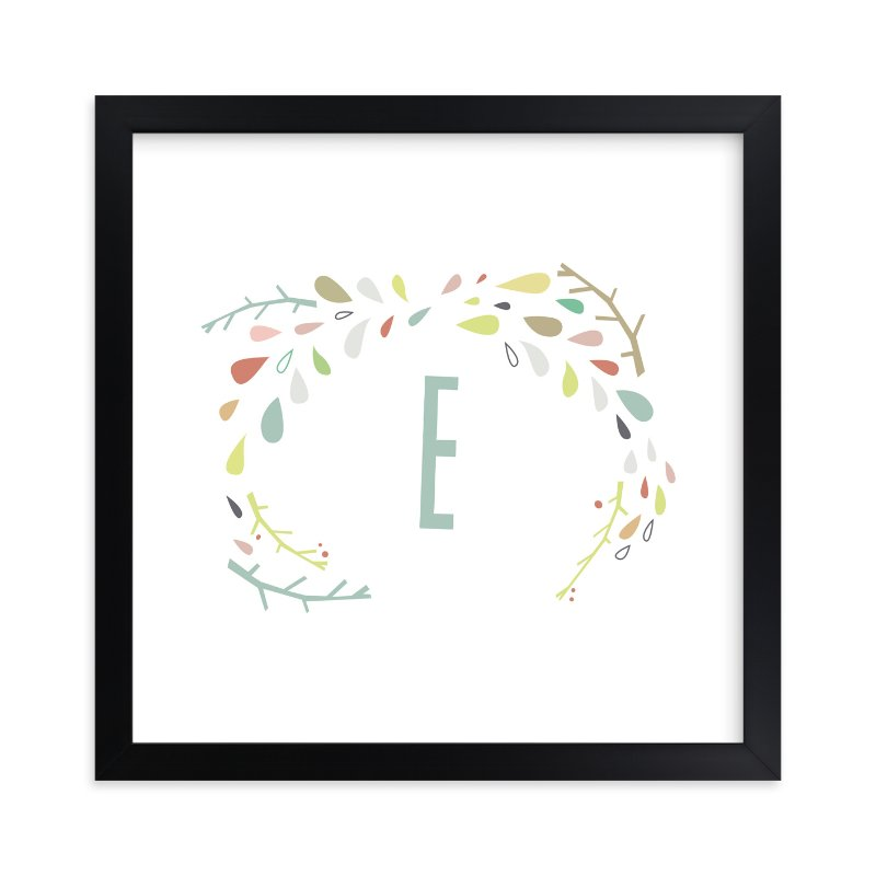 """Craggy Wreath"" - Children's Custom Art Print by Lori Wemple in beautiful frame options and a variety of sizes."