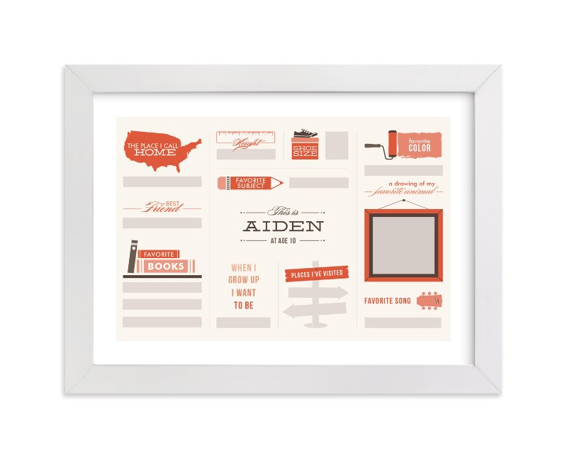 This is a orange personalized art for kid by Dana Beckwith called Just Fill in the Blanks! with standard.
