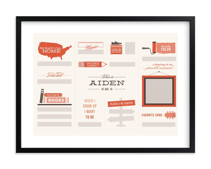 """""""Just Fill in the Blanks!"""" - Children's Custom Art Print by Dana Beckwith in beautiful frame options and a variety of sizes."""