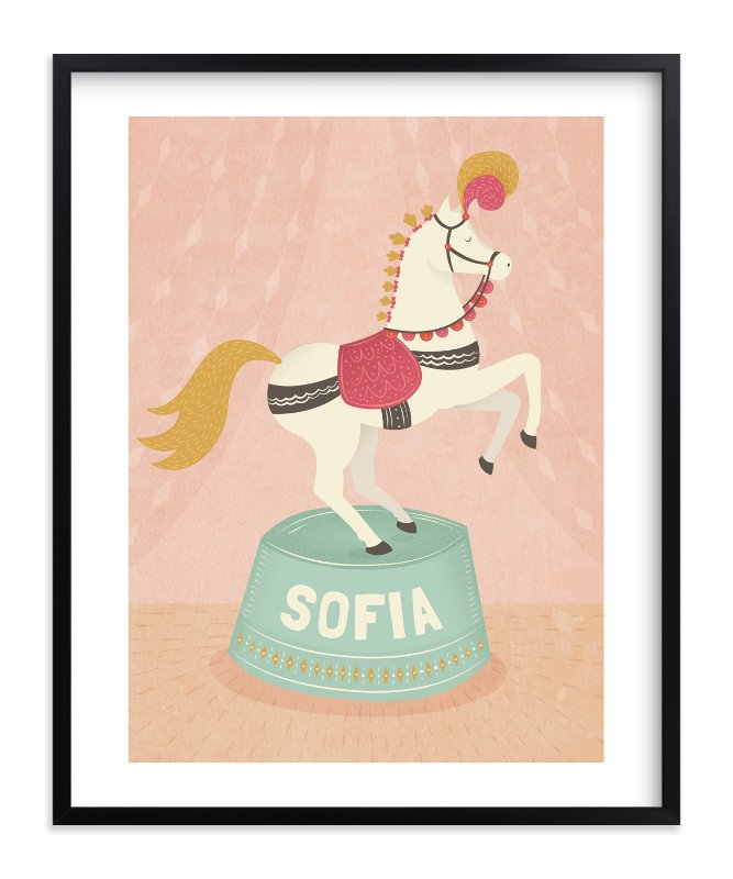 """""""Circus Pony"""" - Children's Custom Art Print by Jody Wody in beautiful frame options and a variety of sizes."""