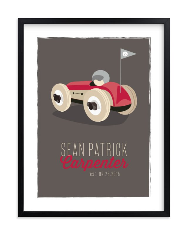"""Race Day"" - Children's Custom Art Print by Squareview Studios in beautiful frame options and a variety of sizes."