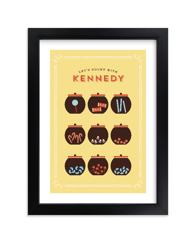 """Candy Store"" - Children's Custom Art Print by chocomocacino in beautiful frame options and a variety of sizes."