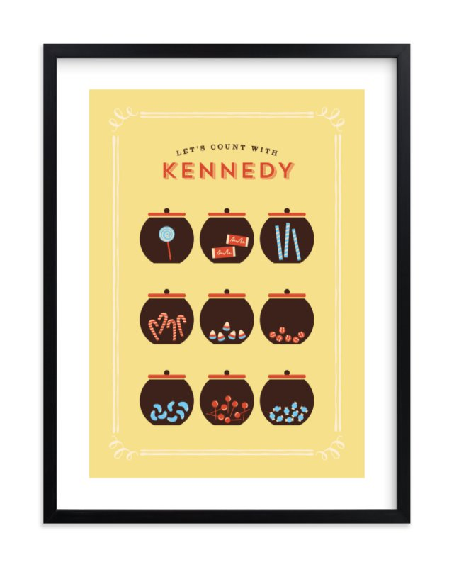"""""""Candy Store"""" - Children's Custom Art Print by chocomocacino in beautiful frame options and a variety of sizes."""
