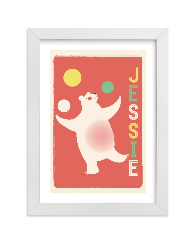 This is a orange personalized art for kid by kadie foppiano called Circus Circus with standard.