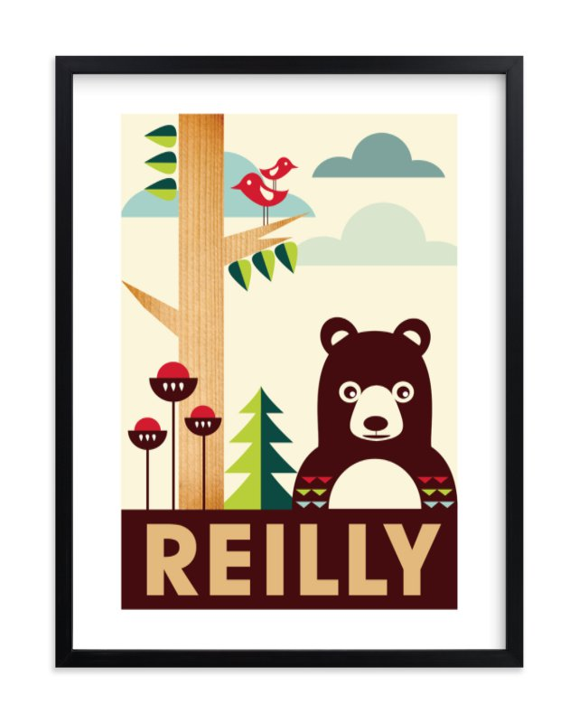 """""""Woody"""" - Children's Custom Art Print by Creaform Design in beautiful frame options and a variety of sizes."""