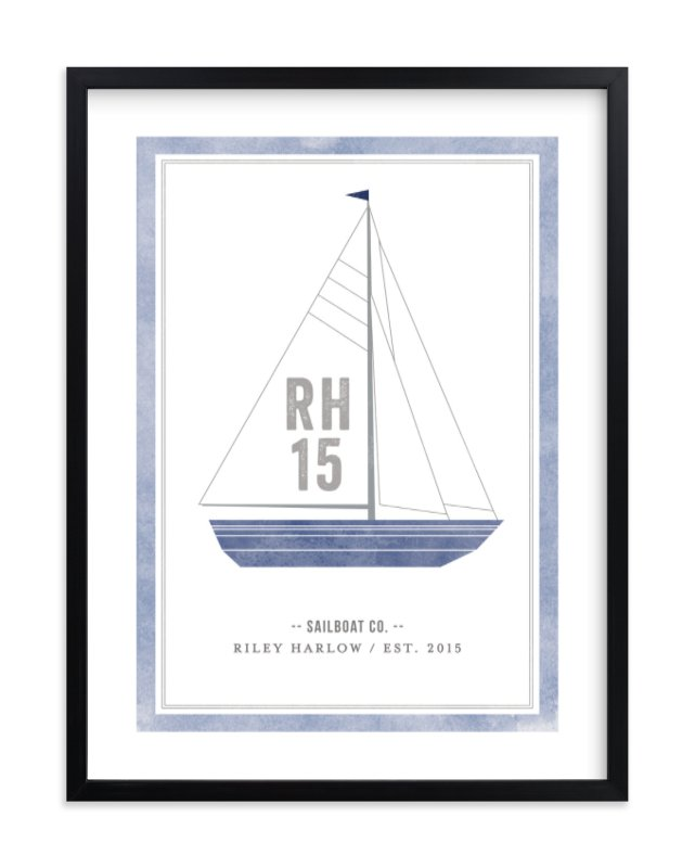 """""""Sailboat co."""" - Children's Custom Art Print by cambria in beautiful frame options and a variety of sizes."""