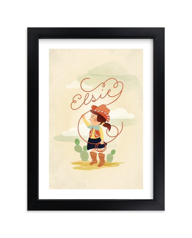 """""""Don't Fence Me In"""" - Children's Custom Art Print by Olivia Kanaley in beautiful frame options and a variety of sizes."""