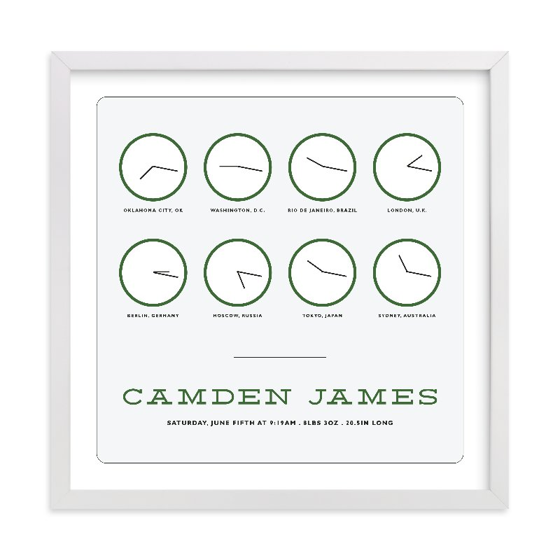 This is a green personalized art for kid by Bethany Anderson called Timeless with standard.