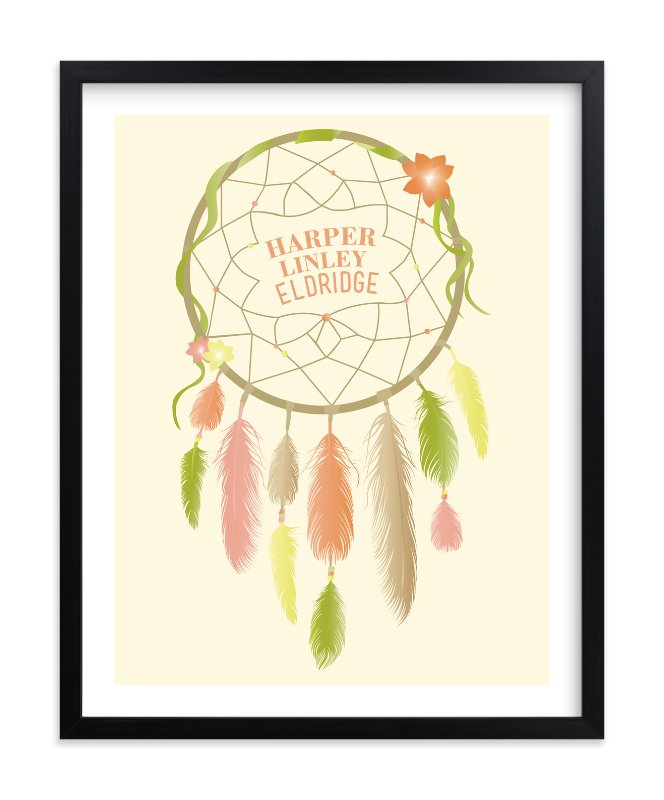 """Dreamcatcher"" - Children's Custom Art Print by Red Impressionz in beautiful frame options and a variety of sizes."