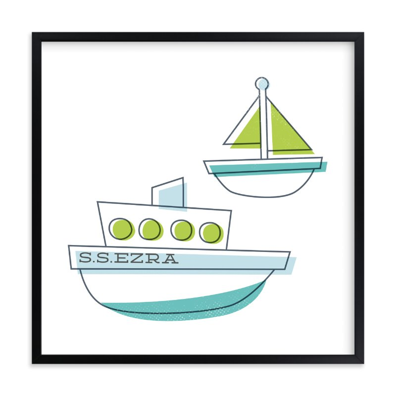 """""""Sail It"""" - Children's Custom Art Print by Jessie Steury in beautiful frame options and a variety of sizes."""