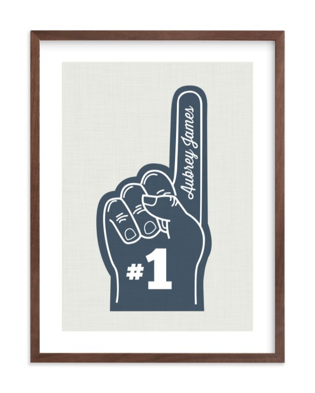 Number One Children's Custom Art Print