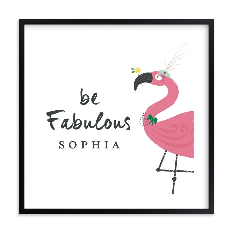 """""""Fabulous"""" - Children's Custom Art Print by Rebecca Bowen in beautiful frame options and a variety of sizes."""