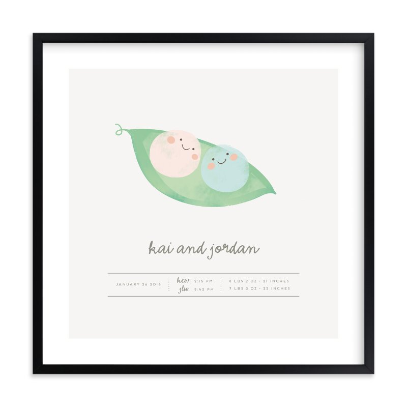 """""""Sweet Peas"""" - Children's Custom Art Print by Lori Wemple in beautiful frame options and a variety of sizes."""