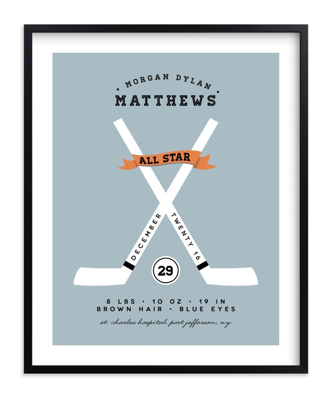 """All Star"" - Children's Custom Art Print by Christina Novak in beautiful frame options and a variety of sizes."