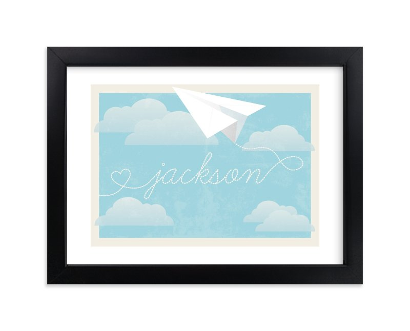 """""""In Flight"""" - Children's Custom Art Print by Jennifer Morehead in beautiful frame options and a variety of sizes."""