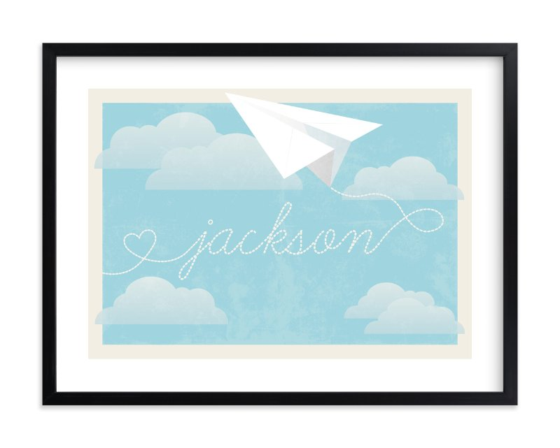 """In Flight"" - Children's Custom Art Print by Jennifer Morehead in beautiful frame options and a variety of sizes."