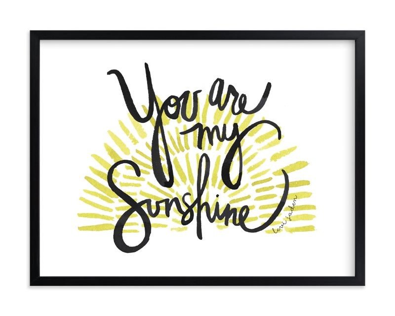 """""""My Sunshine"""" - Children's Custom Art Print by Kelly Ventura in beautiful frame options and a variety of sizes."""