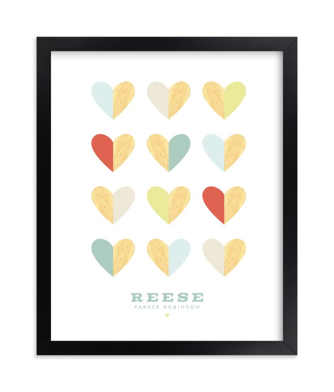 """""""Engrained In Our Hearts"""" - Children's Custom Art Print by Keen Peachy in beautiful frame options and a variety of sizes."""
