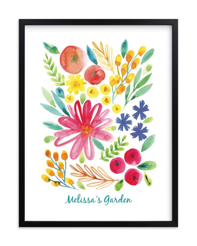 """""""My Little Garden"""" - Children's Custom Art Print by Alexandra Dzh in beautiful frame options and a variety of sizes."""