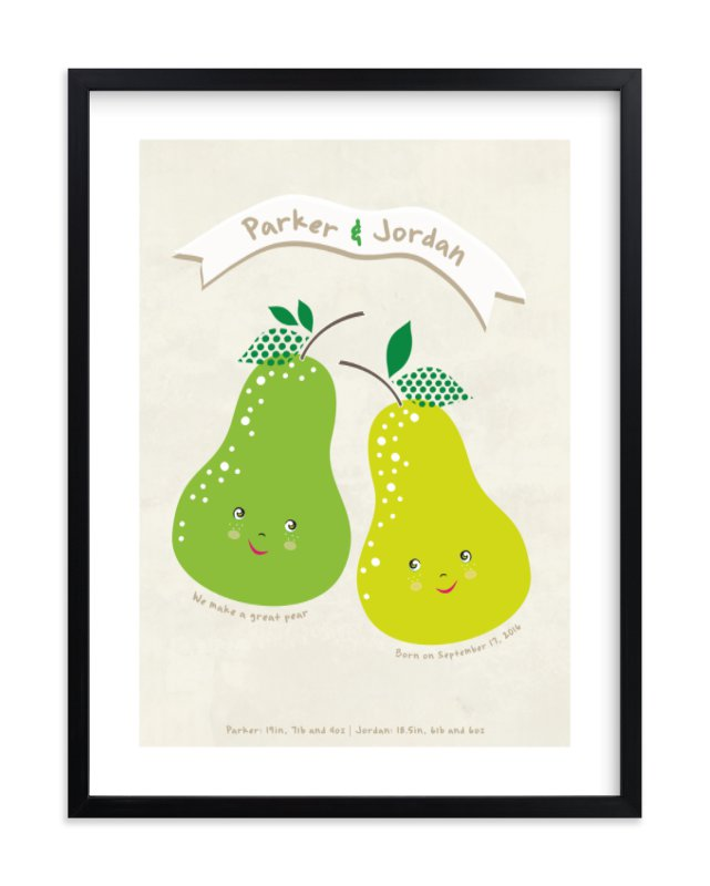 """Great Pear"" - Children's Custom Art Print by Stellax Creative in beautiful frame options and a variety of sizes."