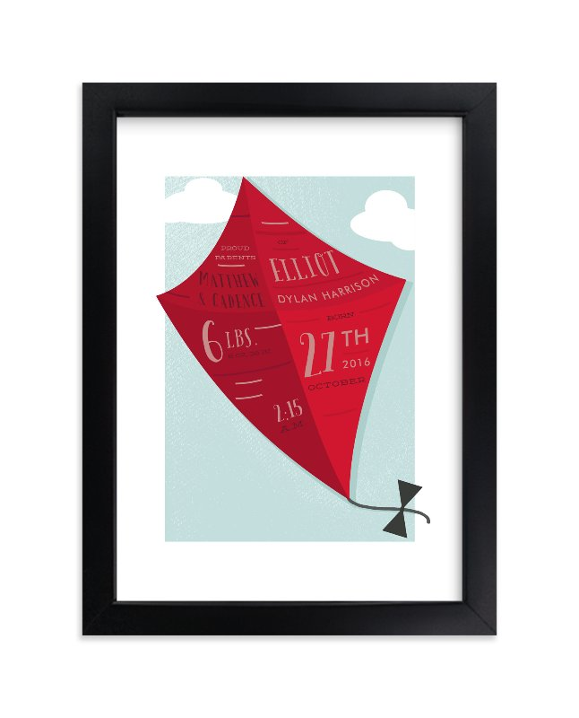 """Little Kite"" - Children's Custom Art Print by Oma N. Ramkhelawan in beautiful frame options and a variety of sizes."