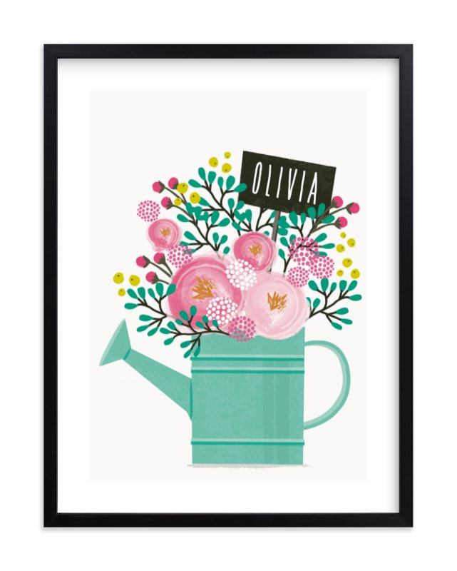 """Little Gardener"" - Children's Custom Art Print by Karidy Walker in beautiful frame options and a variety of sizes."