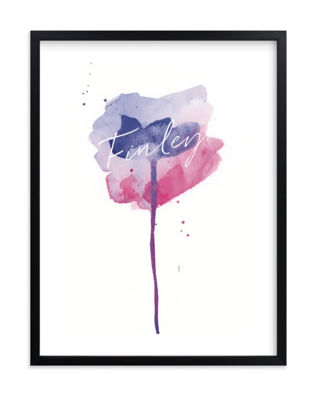 """Watercolor Flower"" - Children's Custom Art Print by Lindsay Megahed in beautiful frame options and a variety of sizes."