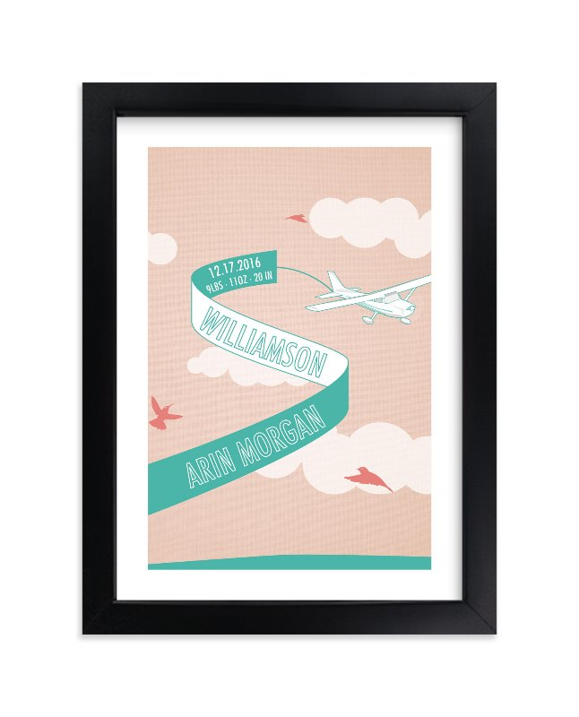 """""""Banner in the Wind"""" - Children's Custom Art Print by Annie Walker in beautiful frame options and a variety of sizes."""