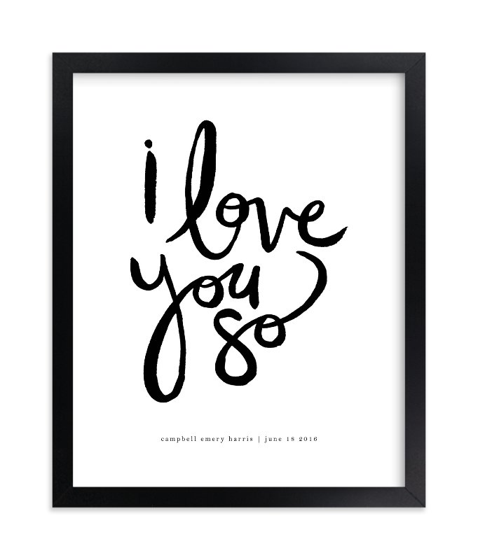 """I Love You So"" - Children's Custom Art Print by Kelly Ventura in beautiful frame options and a variety of sizes."