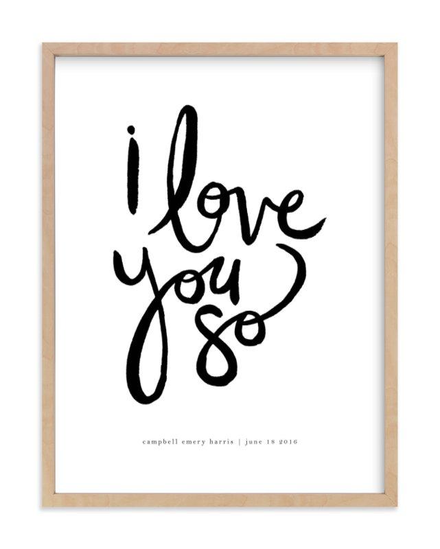 I Love You So Children's Custom Art Print