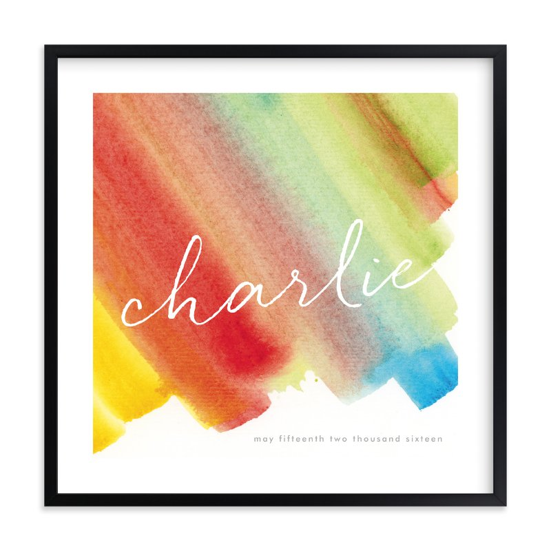 """""""Color Bands"""" - Children's Custom Art Print by Lindsay Megahed in beautiful frame options and a variety of sizes."""