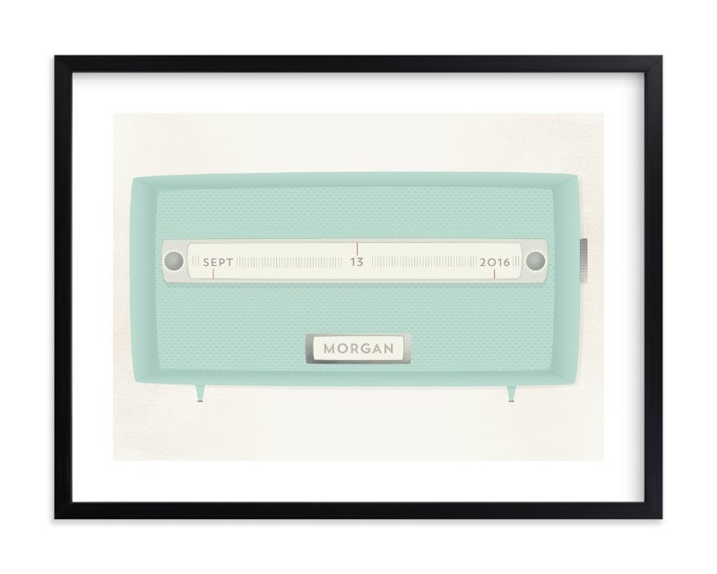 """""""Vintage Radio"""" - Children's Custom Art Print by Grace Kreinbrink in beautiful frame options and a variety of sizes."""