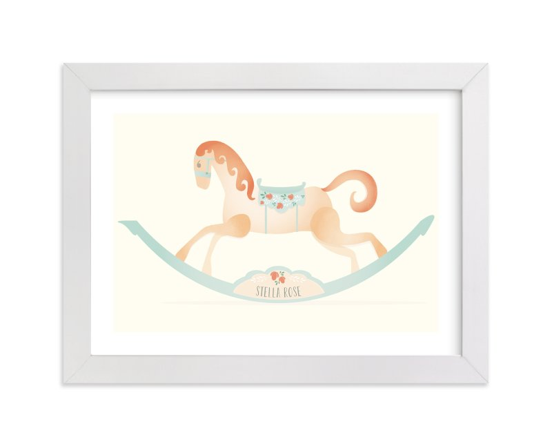 This is a orange personalized art for kid by Grace Kreinbrink called Painted Horse with standard.