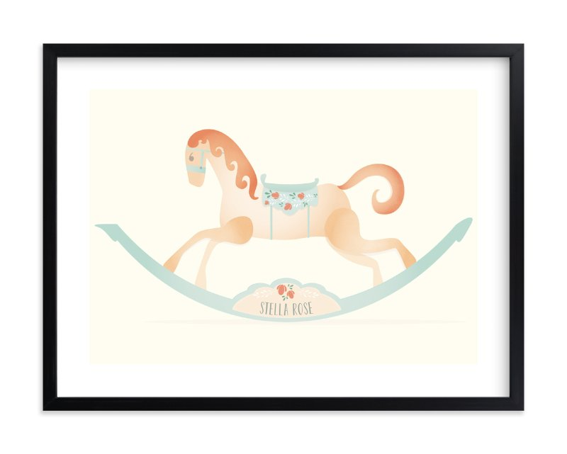 """""""Painted Horse"""" - Children's Custom Art Print by Grace Kreinbrink in beautiful frame options and a variety of sizes."""