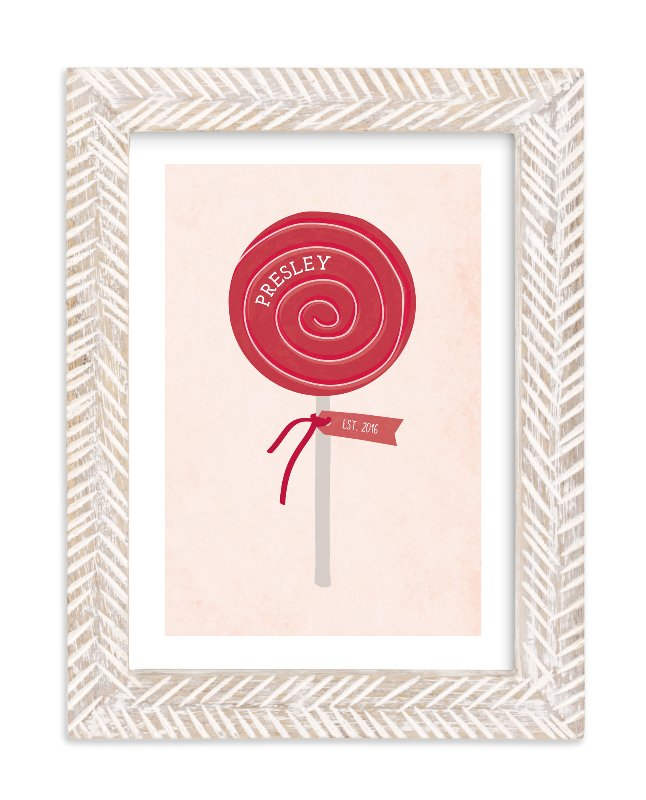"""Lala Lollipop"" - Children's Custom Art Print by Red Impressionz in beautiful frame options and a variety of sizes."