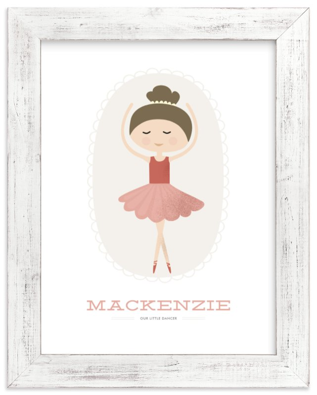 """The Ballerina"" - Children's Custom Art Print by Oma N. Ramkhelawan in beautiful frame options and a variety of sizes."
