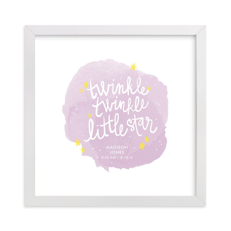 This is a purple personalized art for kid by Lacie Cunningham called Twinkle Twinkle Little Star.