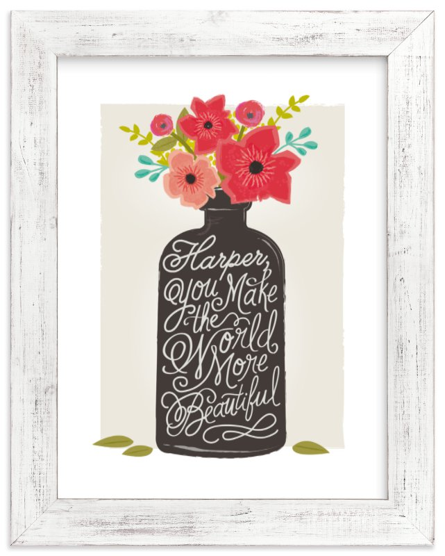 """beautiful message"" - Children's Custom Art Print by Karidy Walker in beautiful frame options and a variety of sizes."