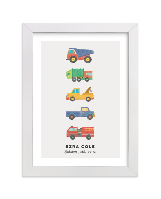 """""""lets go"""" - Children's Custom Art Print by peetie design in beautiful frame options and a variety of sizes."""