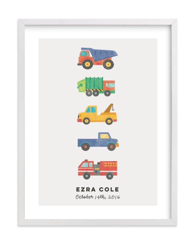 """lets go"" - Children's Custom Art Print by peetie design in beautiful frame options and a variety of sizes."