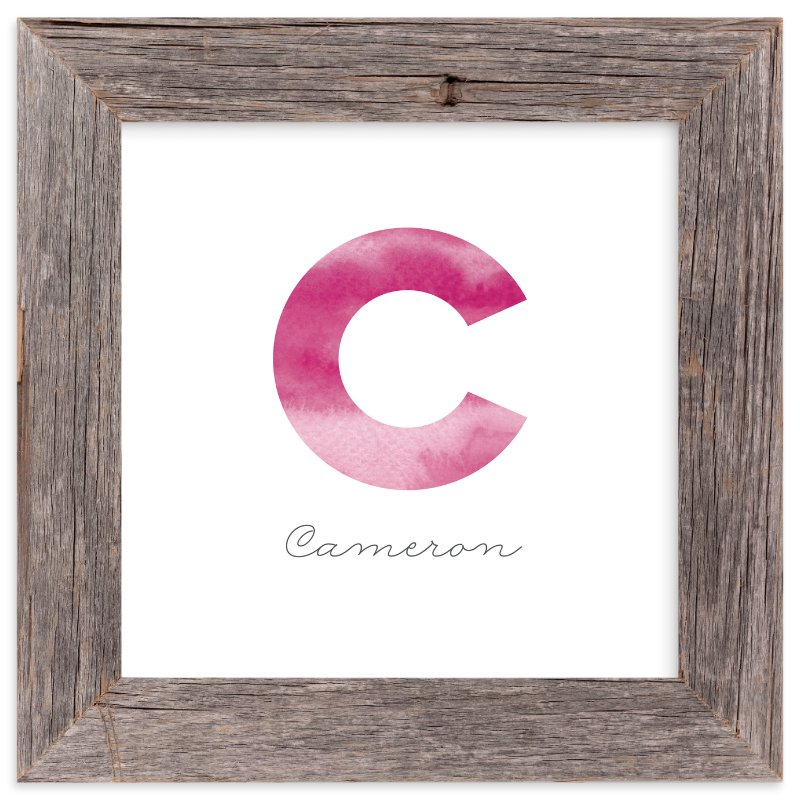 """Name Initials"" - Children's Custom Art Print by Belia Simm in beautiful frame options and a variety of sizes."