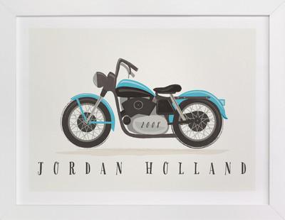 vintage motorcycle Children's Custom Art Print