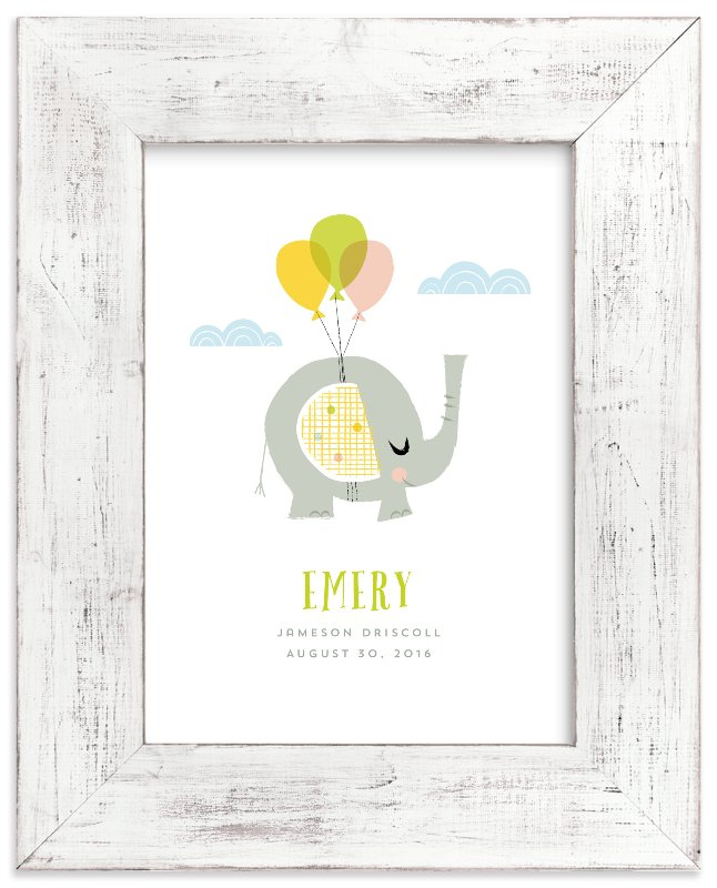 """Elephant Dreams"" - Children's Custom Art Print by Shannon Hays in beautiful frame options and a variety of sizes."