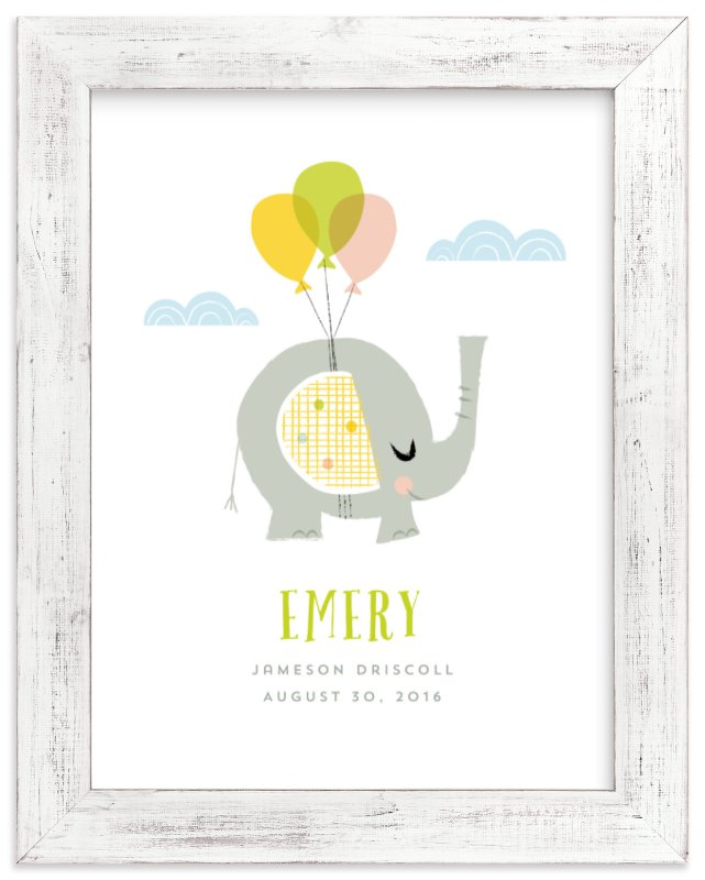 """""""Elephant Dreams"""" - Children's Custom Art Print by Shannon Hays in beautiful frame options and a variety of sizes."""
