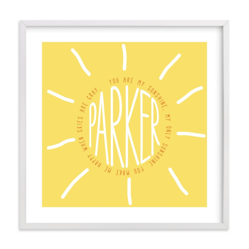 """You Are My Sunshine"" - Children's Custom Art Print by Refound Nostalgia in beautiful frame options and a variety of sizes."